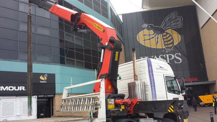 coventry stadium HIAB Generator