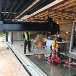 Lifting Glass using HIAB