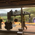 Positioning Glass using HIAB Crane