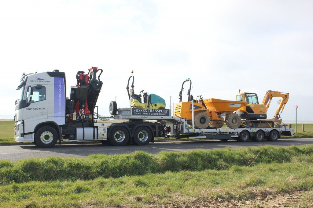 Artic Hiab - Low Loader Plant Move