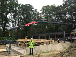 Steel Lift HIAB crane Sussex