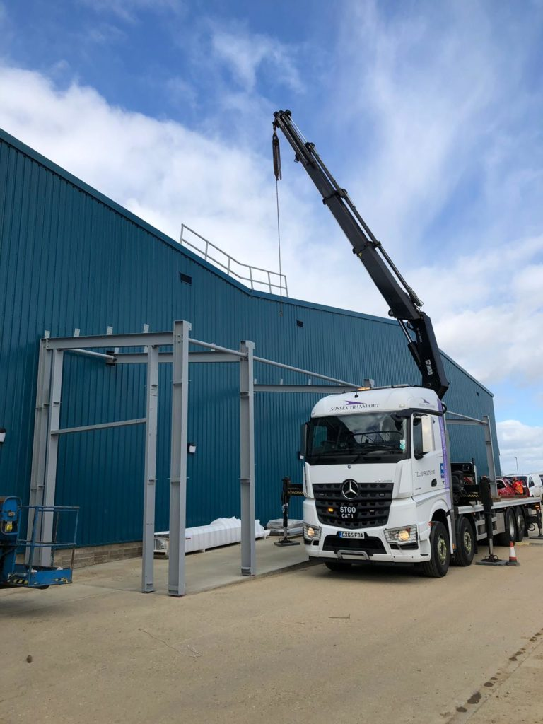 Steel Work Erection using HIAB
