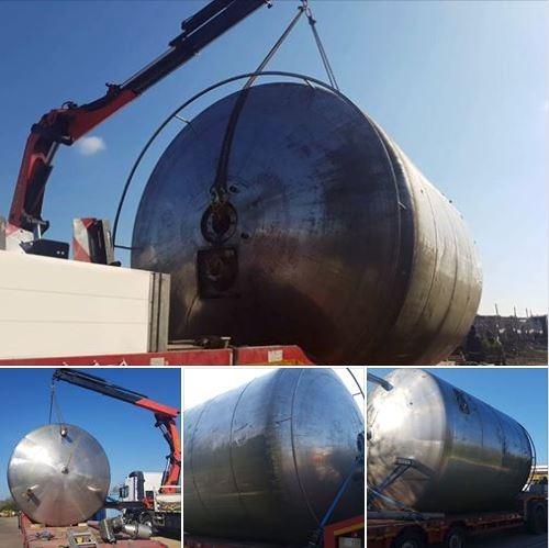 Steel Water Tank HIAB Transport
