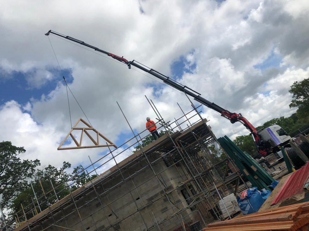 Crane Lorry Roof Trusses 1