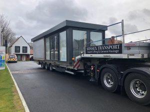 artic hiab office cabin move