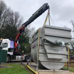 steel water tank transport