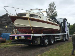 boat hiab hire transport portsmouth