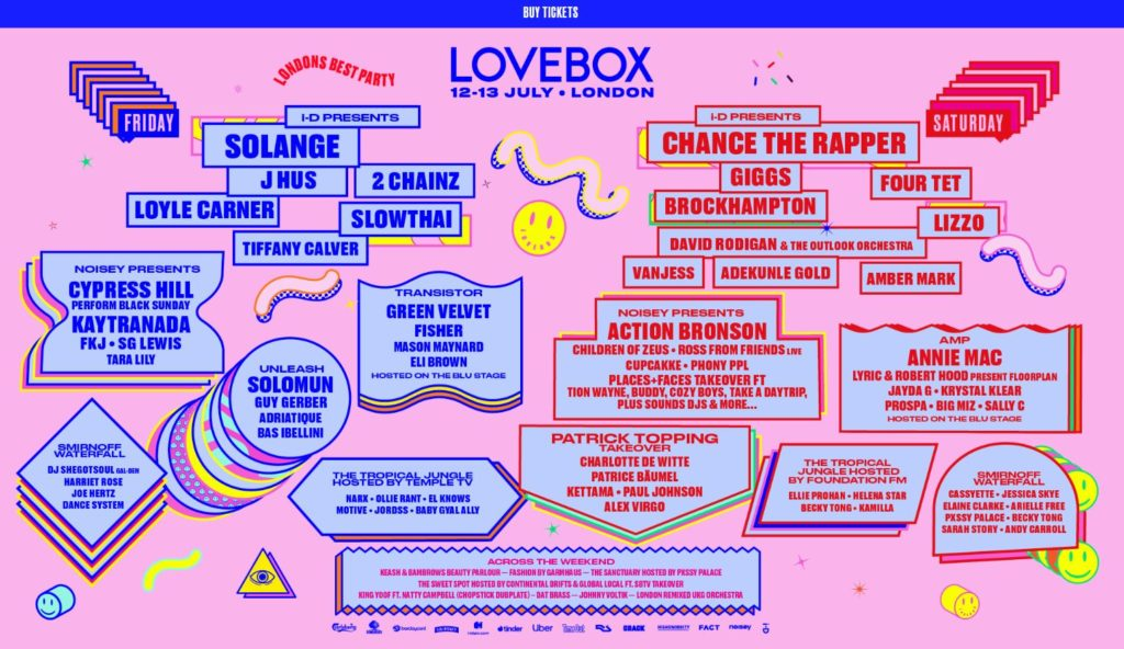 Lovebox Music Festival Haulage