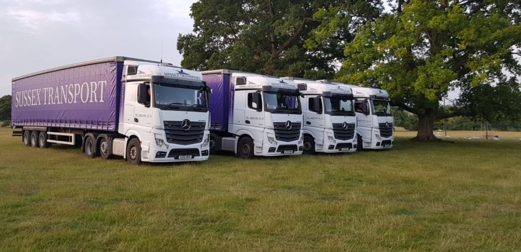 Artic vehicles delivery Sussex