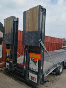 low loader trailer beavertail sussex