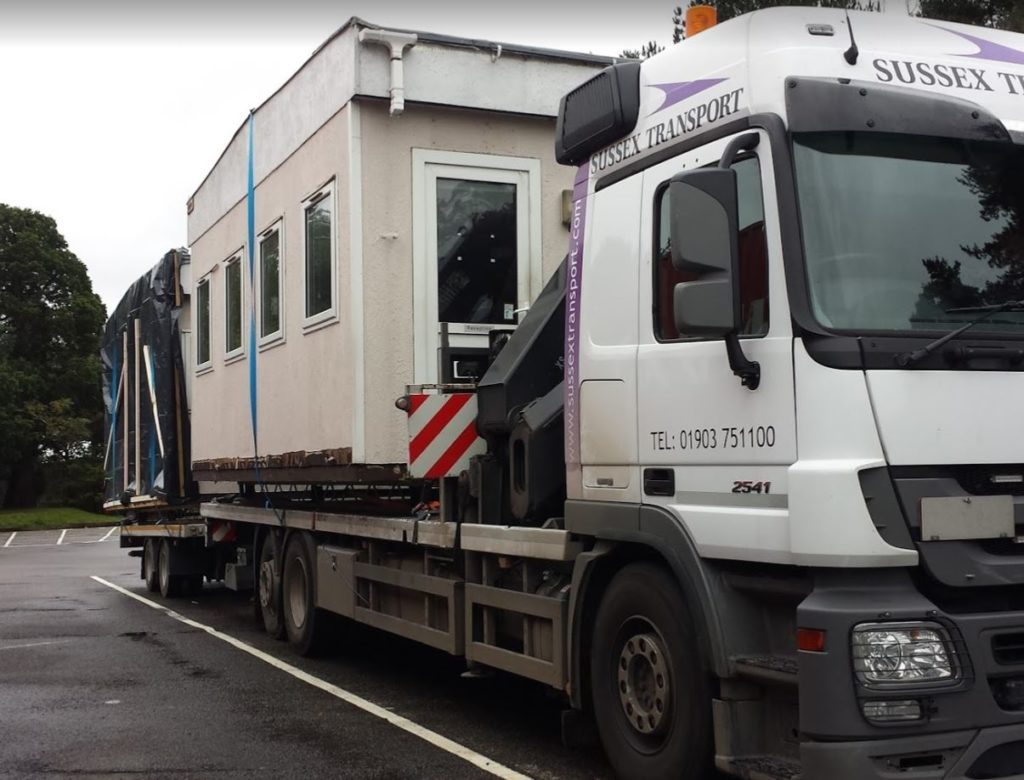 portable cabin lift and haulage sussex