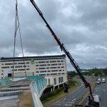 Bridge Construction HIAB Crane Lifting