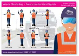 vehicle marshalling signals poster download