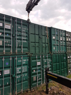 Containers Sold to Self Storage Site