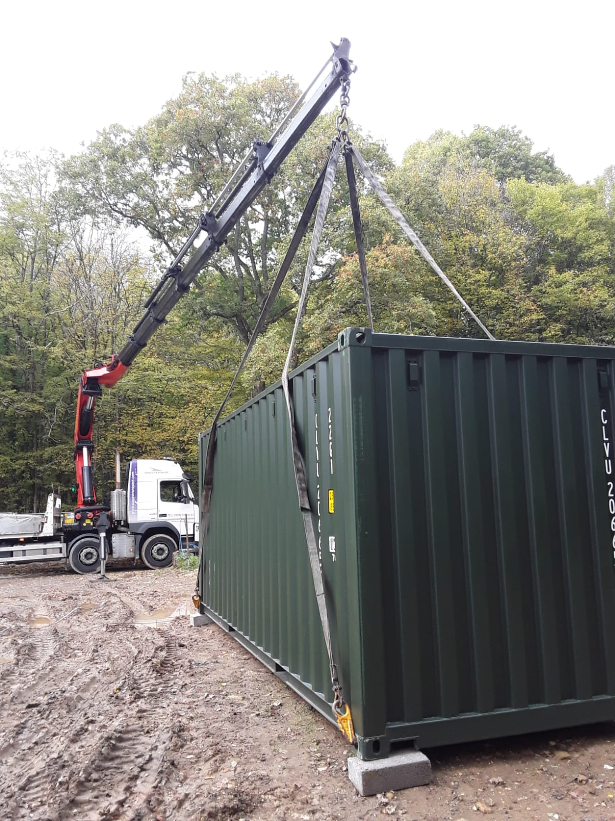 20ft Container Delivery To Dunsfold Chris Smith