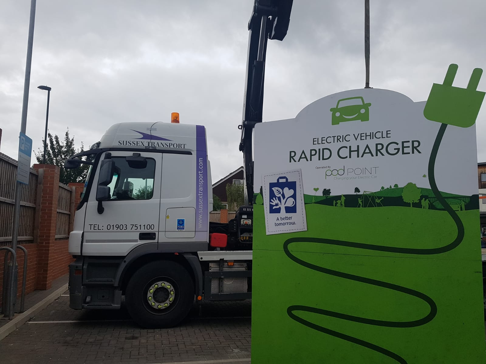 Electric Charger Point Car Charger Delivery