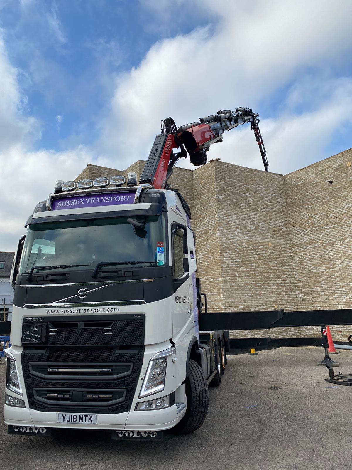 West Sussex Balcony Frames Lifting HIAB
