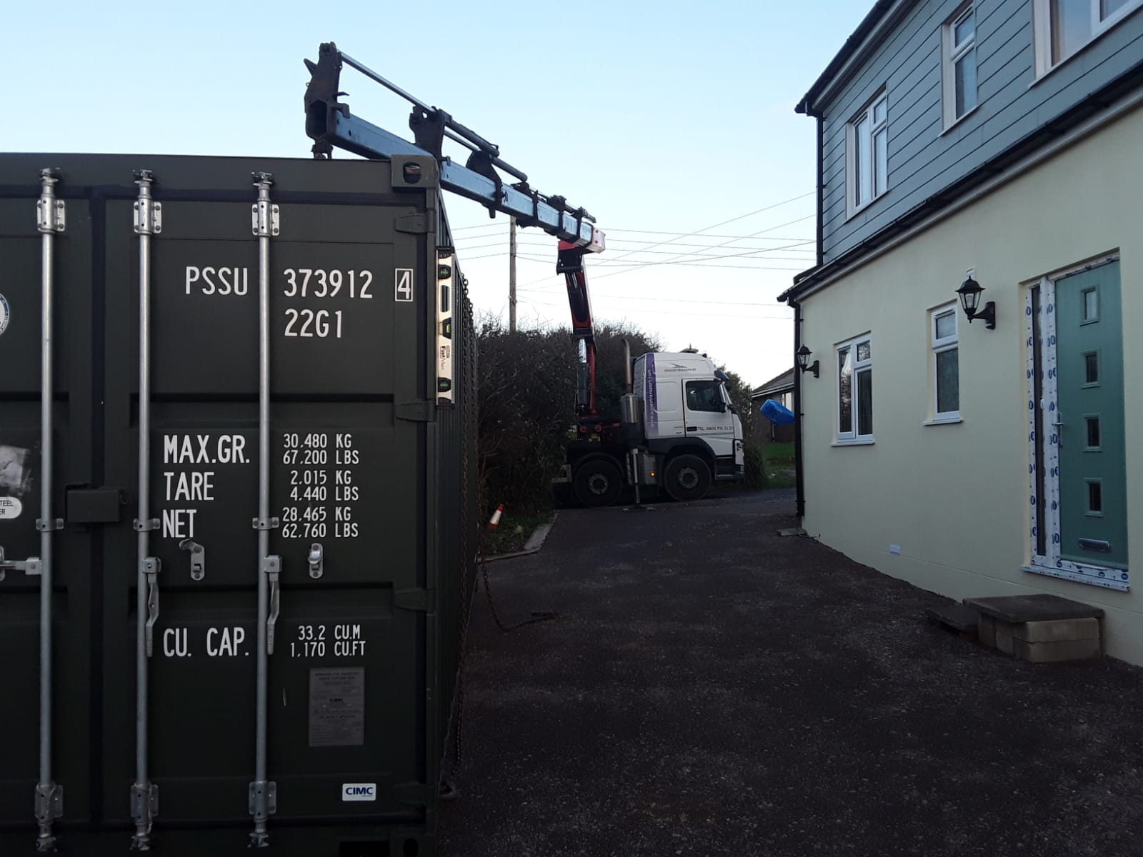 Nov 20 20ft Container Delivery To Peacehaven 4 Chris Smith