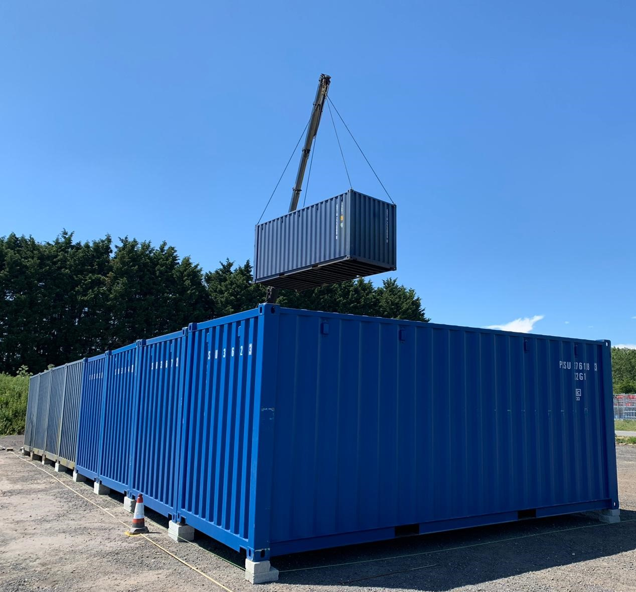 Container Storage Site Lifting And Positioning HIAB